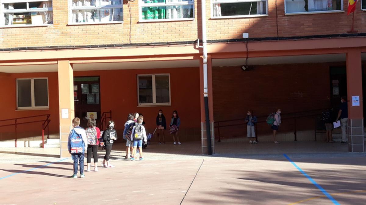 Inicio del curso escolar del pasado año en el CEIP Las Eras de Benavente. / E. P.
