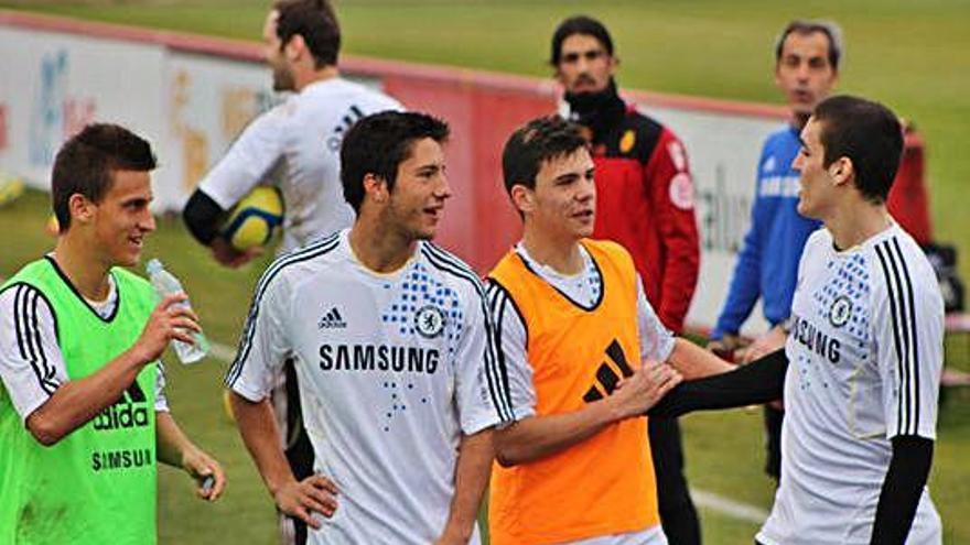 El dia que Gallar i Joan Grasa (Linares) es van entrenar amb el Chelsea