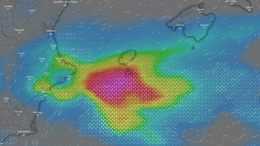 Sigue aquí en directo la tormenta en Ibiza