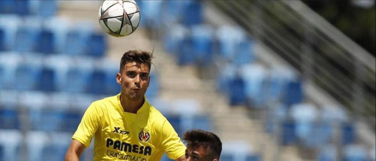 Pablo Álvarez, durante su etapa en el Villarreal.