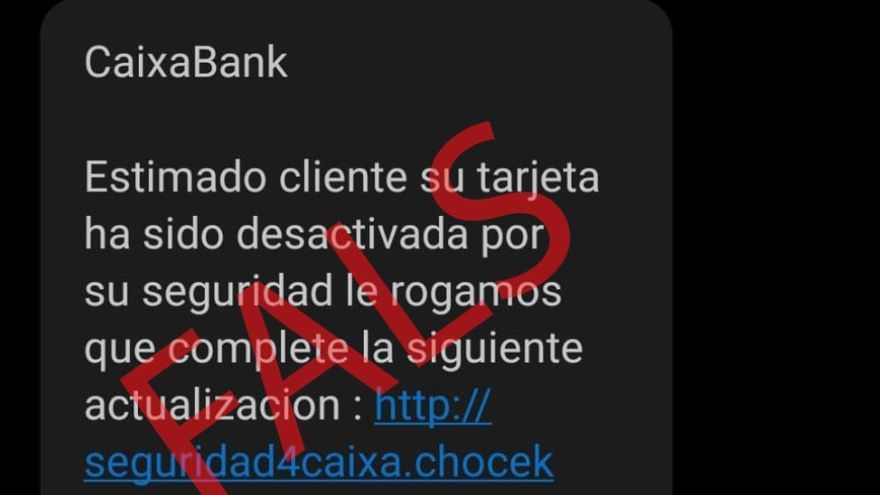 L'auge de les estafes via SMS: aquest cop t'enganyen amb CaixaBank