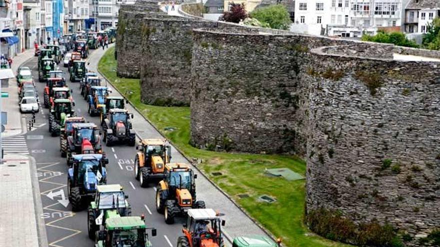 Ganaderos de Lugo retoman las tractoradas para exigir precios justos para el lácteo