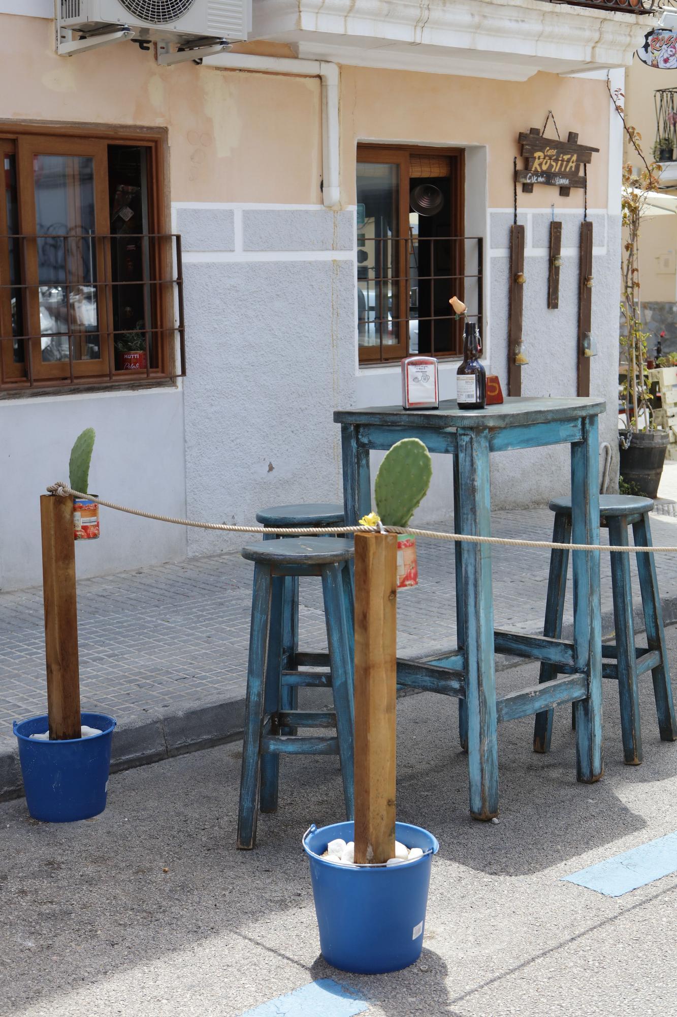 Erinnerung an die Corona-Terrassen in Palma