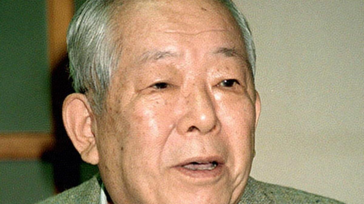 Masatoshi Koshiba, ganador del Nobel de Física en 2002.