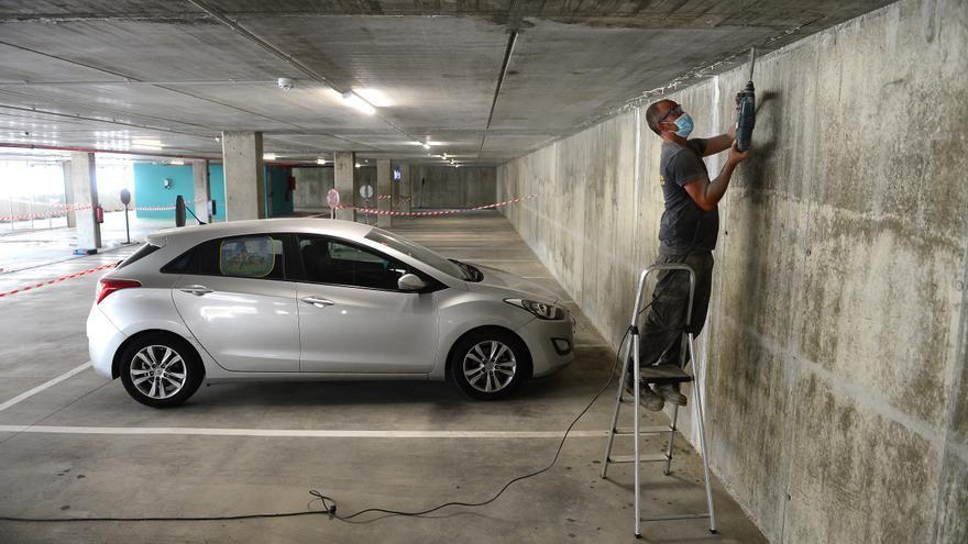 """La UTE de las obras del parking subraya que """"no existen goteras"""" sino un problema de ventilación del forjado"""
