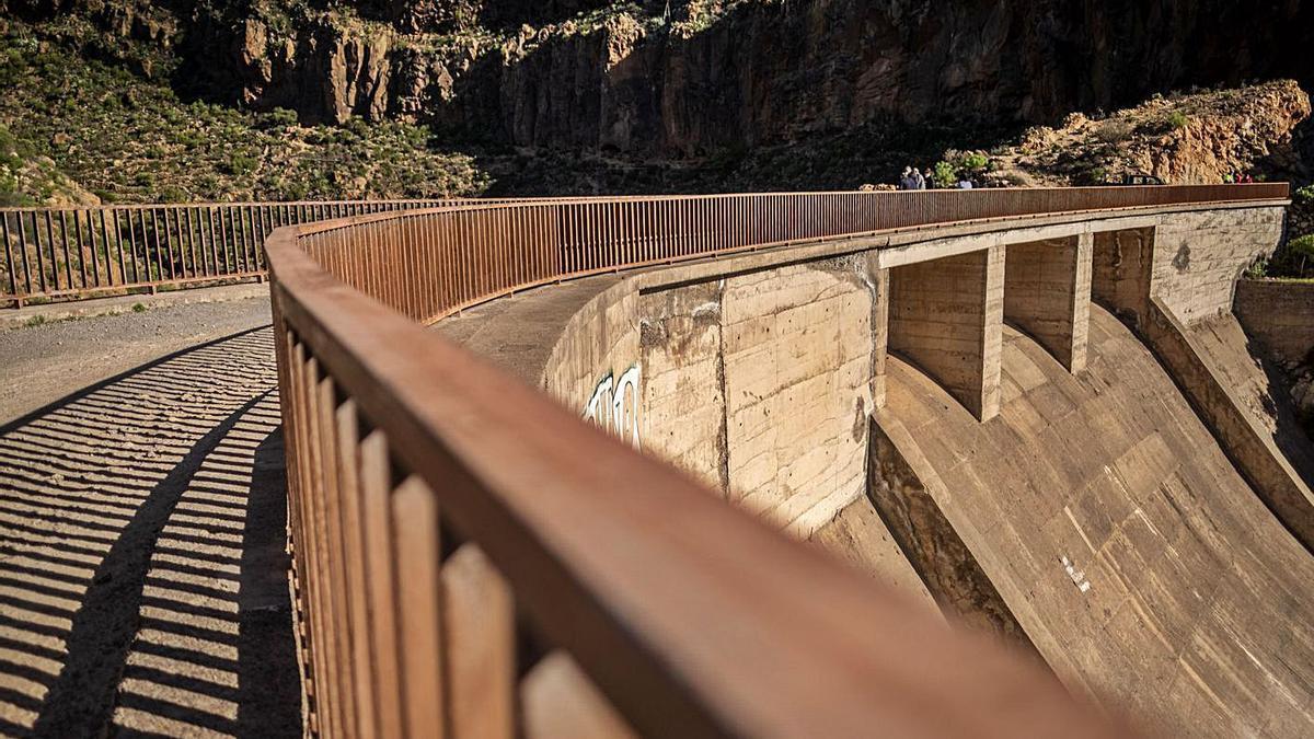 Presa de El Río, en Arico.