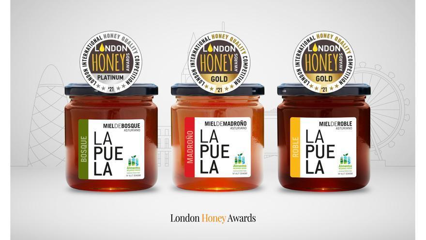 Miel LAPUELA triunfa en los London Honey Awards 2021