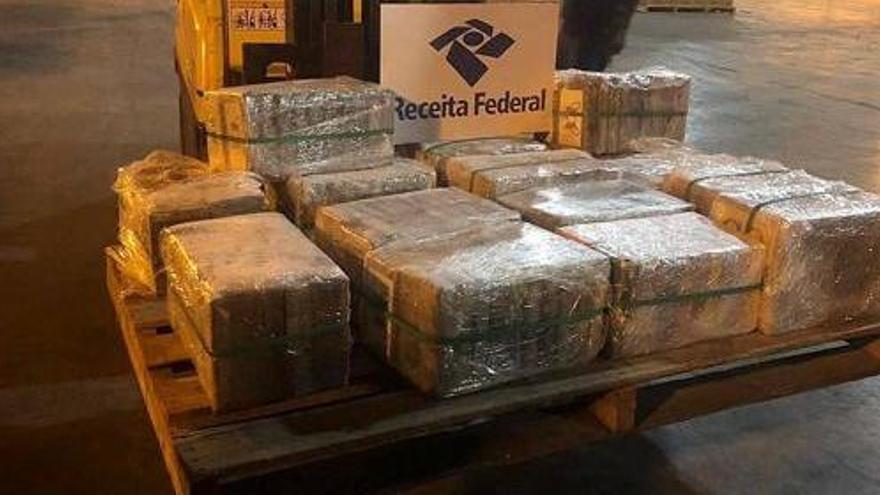 Bloquean en Río de Janeiro 300 kilos de cocaína pura con destino València