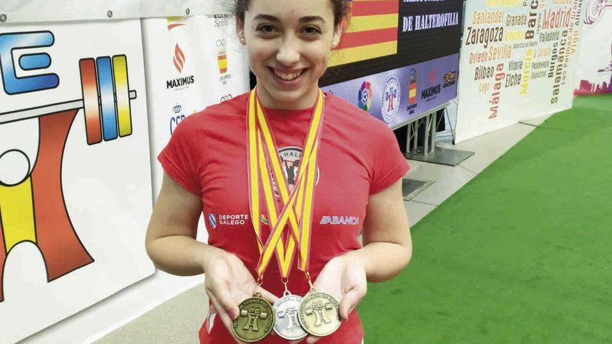 Tres medallas de Abelleira en el Nacional Sub 17
