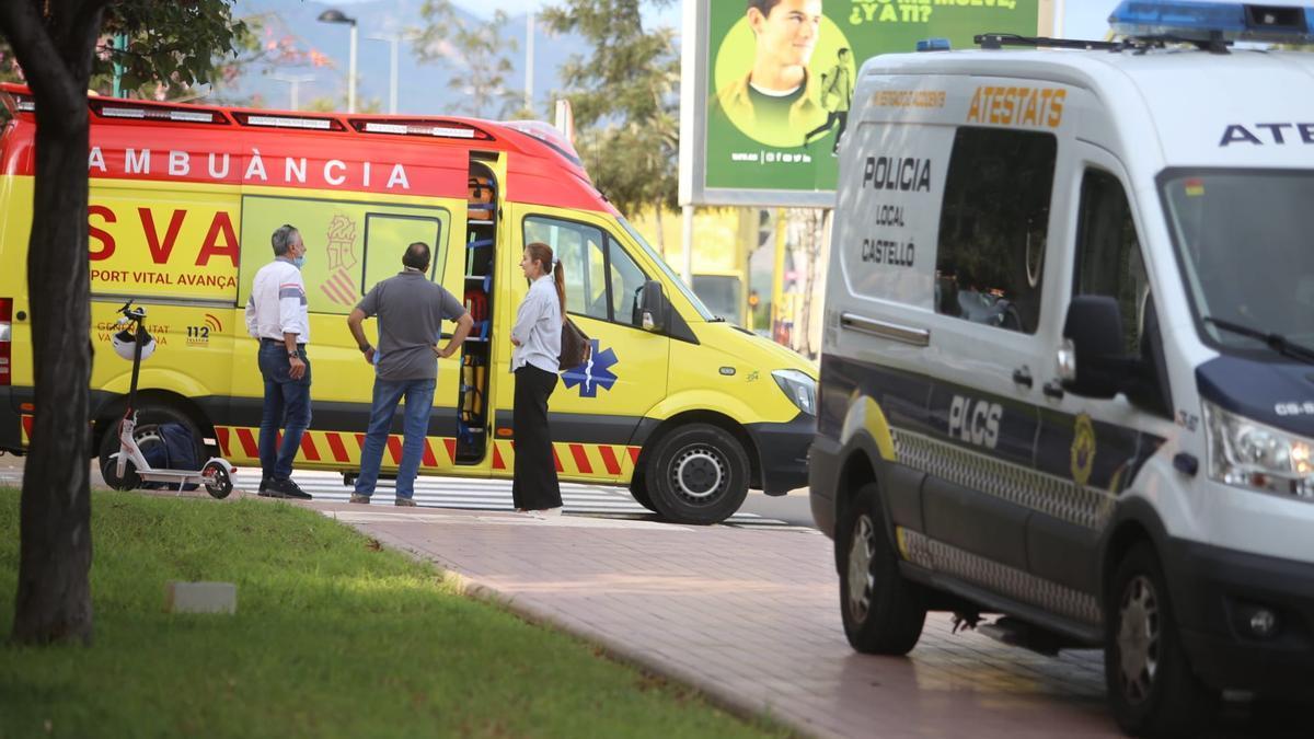 Imagen del accidente sucedido frente al mercado del lunes de Castelló