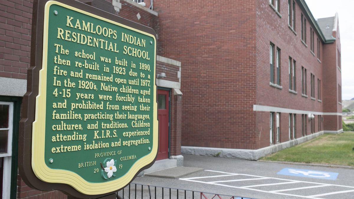 Imatge de l'Escola Residencial Índia Kamloops a la Colúmbia Britànica
