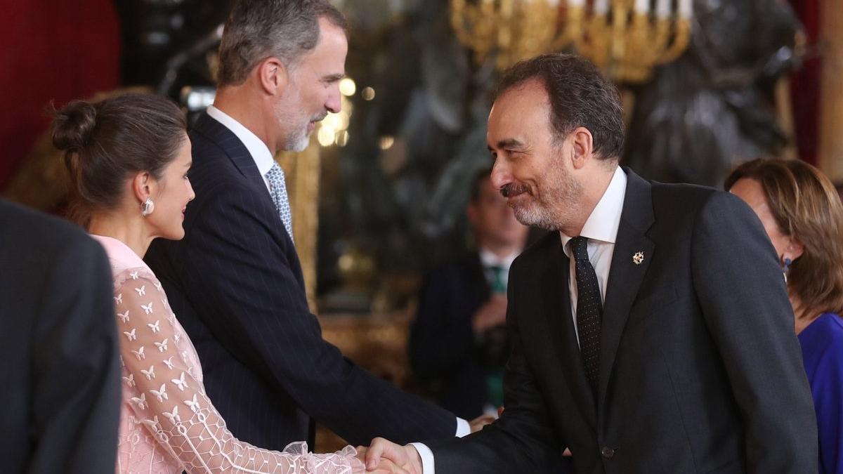 Manuel Marchena saluda a Felipe VI en la recepción del Doce de Octubre de 2019.