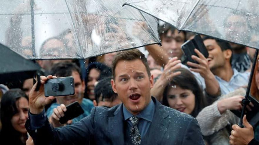 Chris Pratt, el gran reclamo en la premiere de 'Jurassic World'