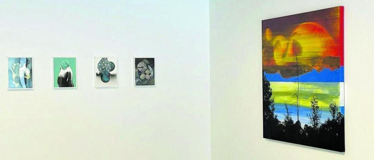 Vista de la exposición de María Acuyo en la galería  Espacio Líquido de Gijón.