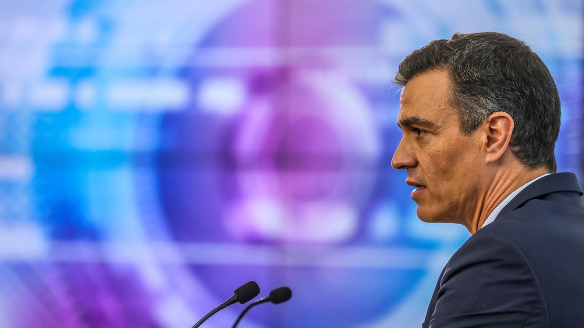 Pedro Sánchez en el cierre de su gira por EEUU.