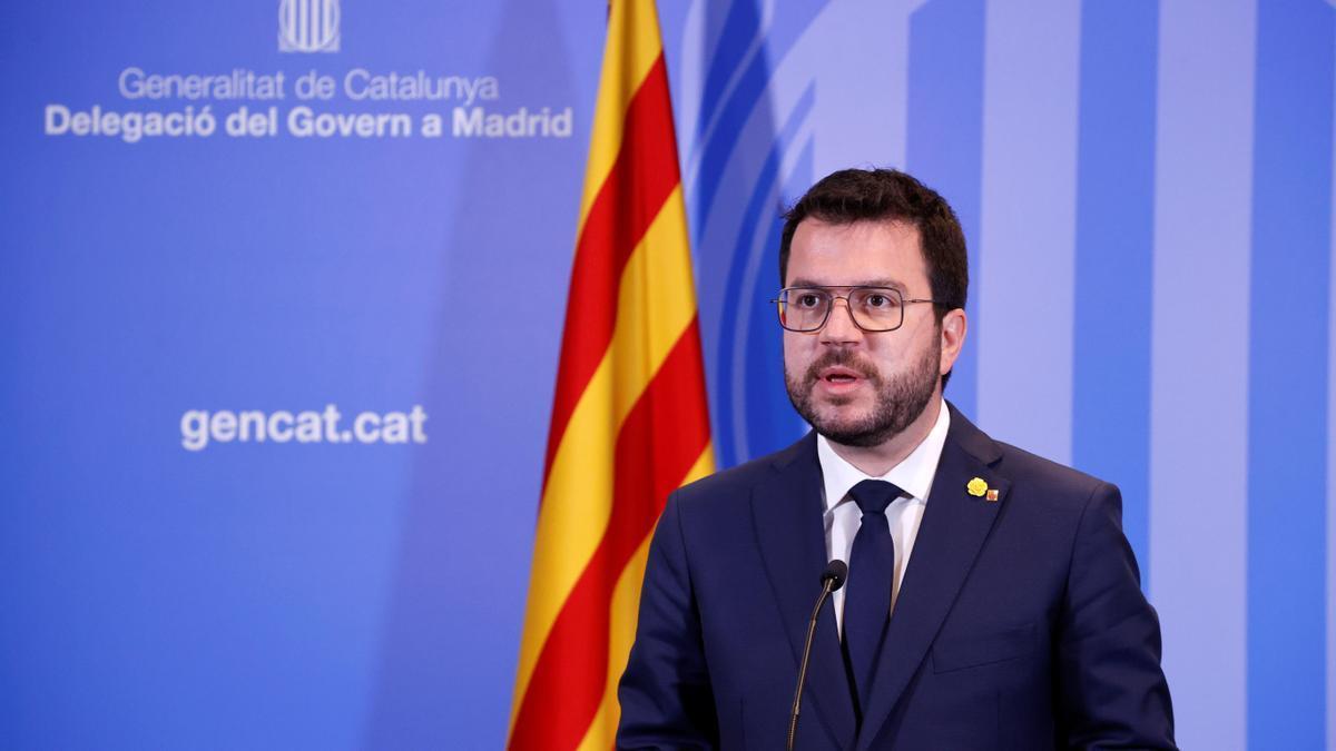 El president catalán, Pere Aragonès.