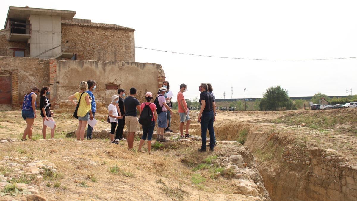 L'entorn exterior de Palol Salbaldòria durant la visita.