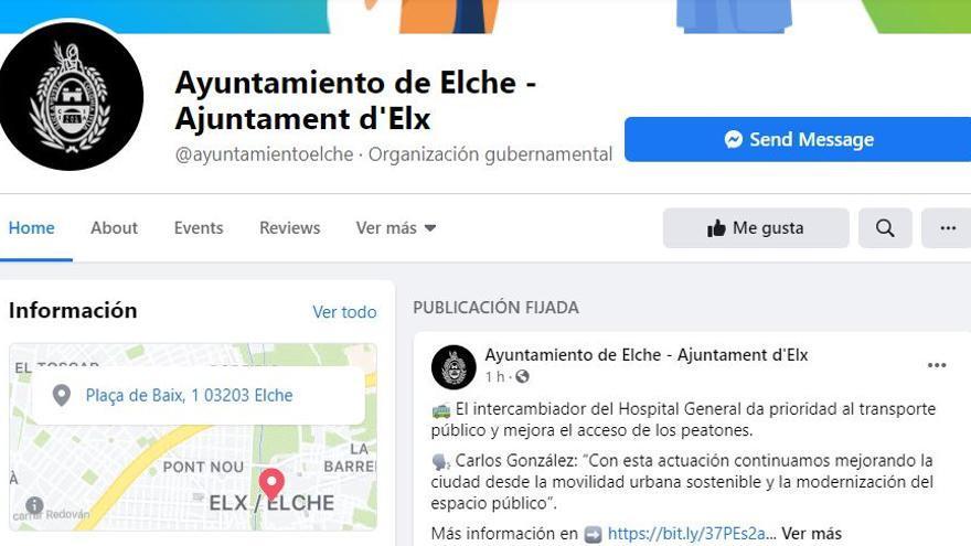 Ciberataque a la pagina de Facebook del Ayuntamiento de Elche