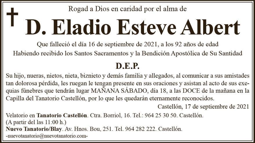 D. Eladio Esteve Albert