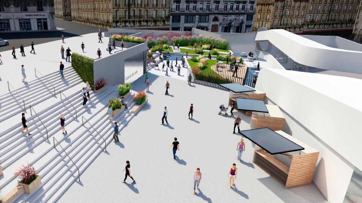 Parte de la gran plaza del Centro Comercial Vialia se usará para instalar 'popup stores'