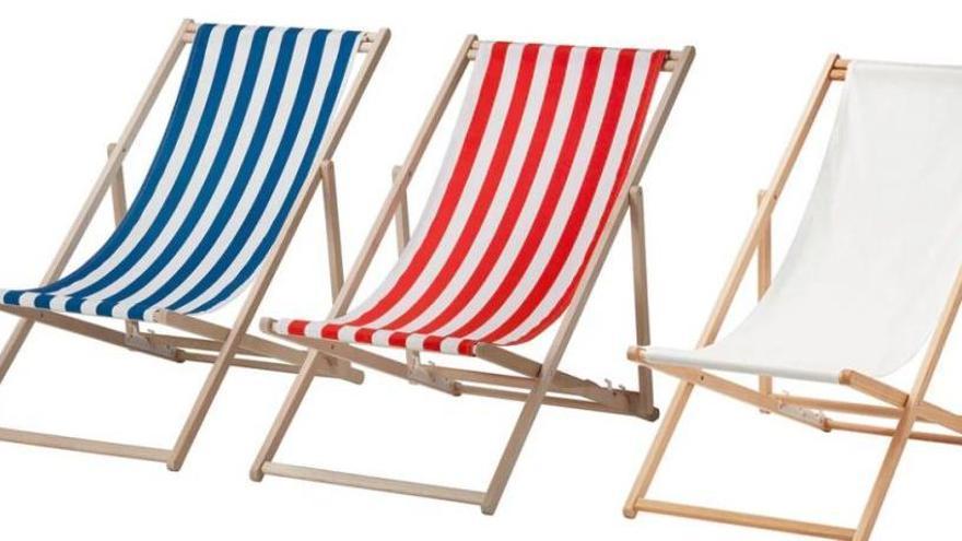 Ikea retira unas sillas de playa por riesgo de caídas