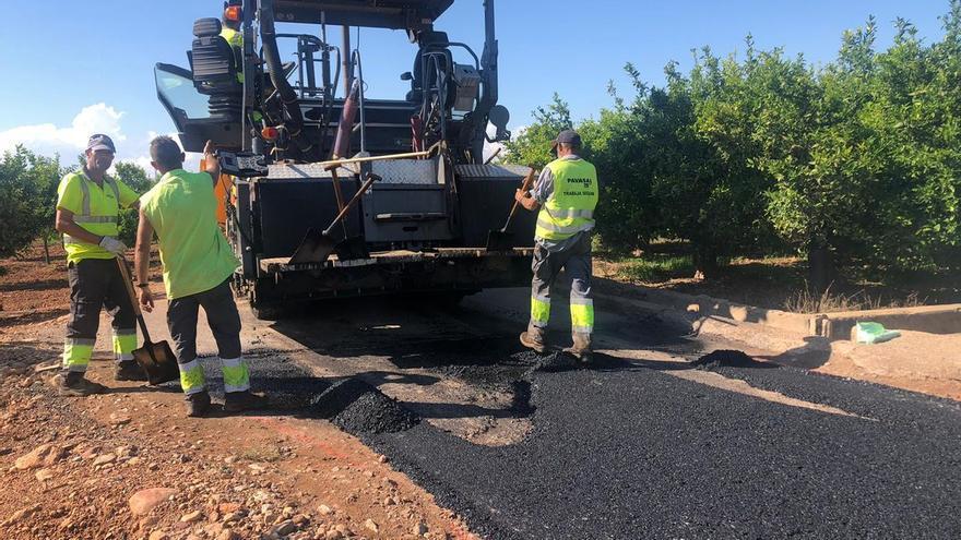 Betxí destina más de 350.000 euros al asfaltado de caminos rurales