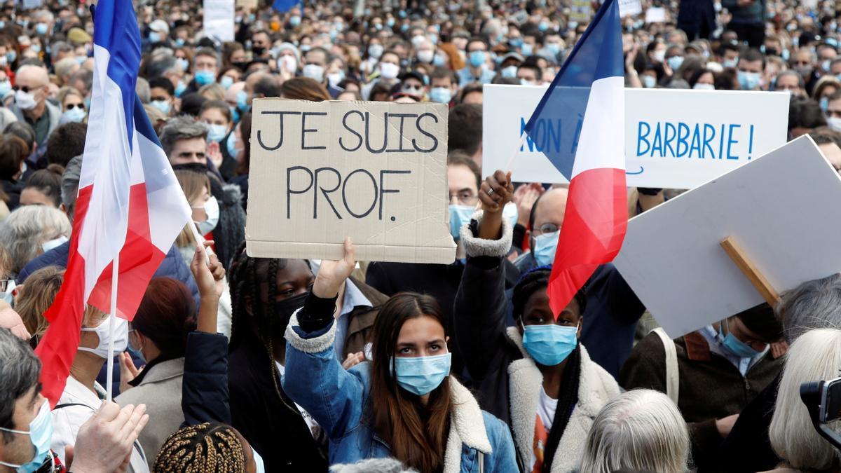 Manifestación 'Je suis prof'.