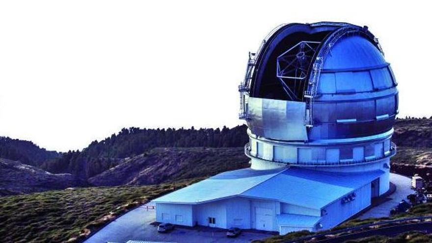 El Grantecan descubre el mayor cúmulo de galaxias en formación del Universo