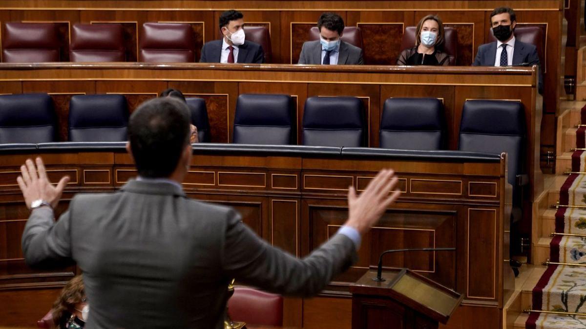 Sánchez se dirige al Congreso, en una foto del 25 de marzo de este año