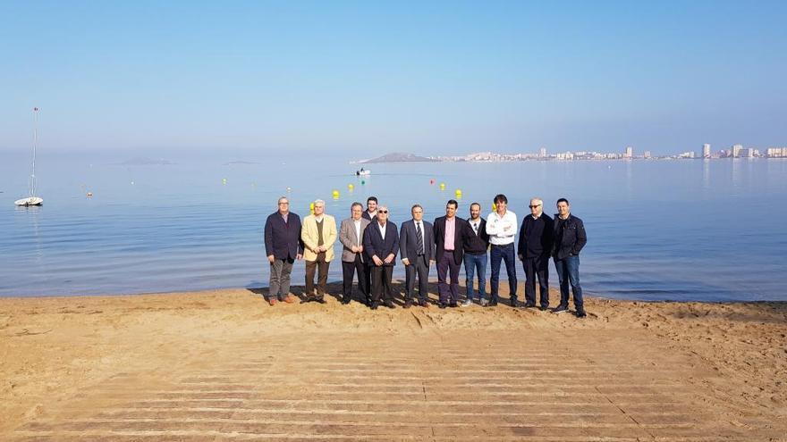 Instalan cuatro puntos de acceso al Mar Menor para barcos de recreo