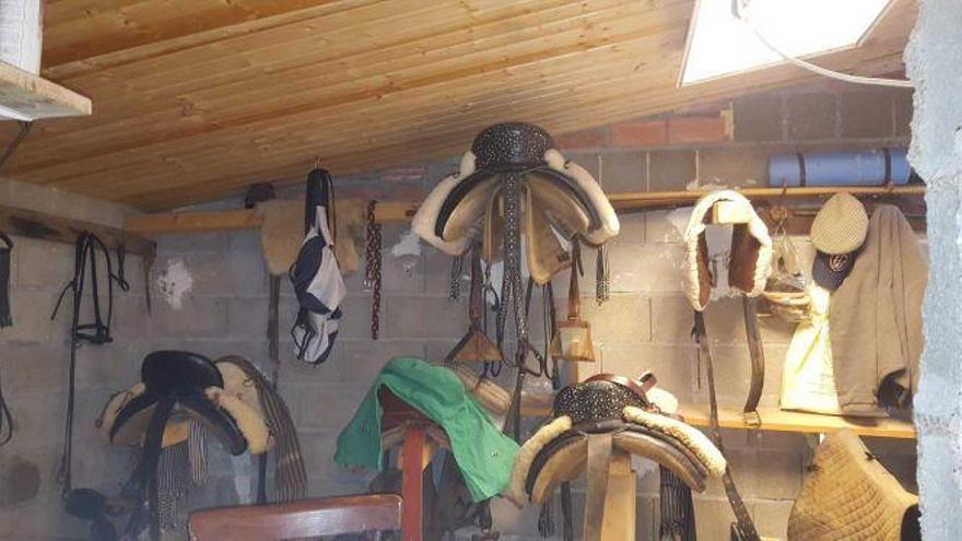 Roban utensilios de monta en una explotación de Ferreras de Arriba