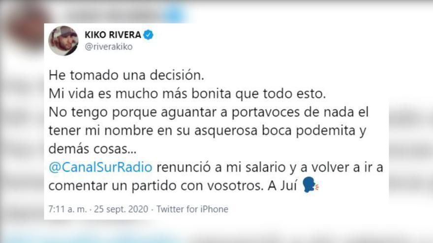 Kiko Rivera toma una drástica decisión tras debutar como comentarista deportivo