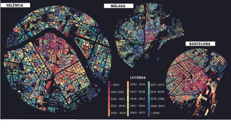 El mapa de edad de la ciudad de València