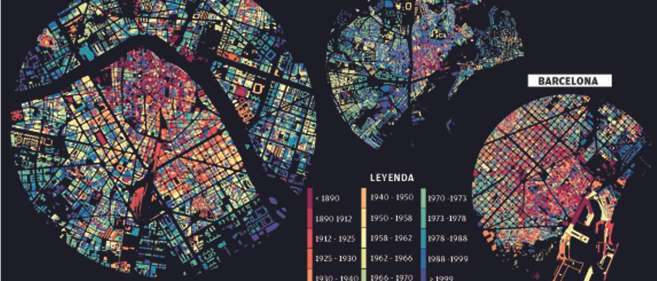 El mapa de edad de la ciudad