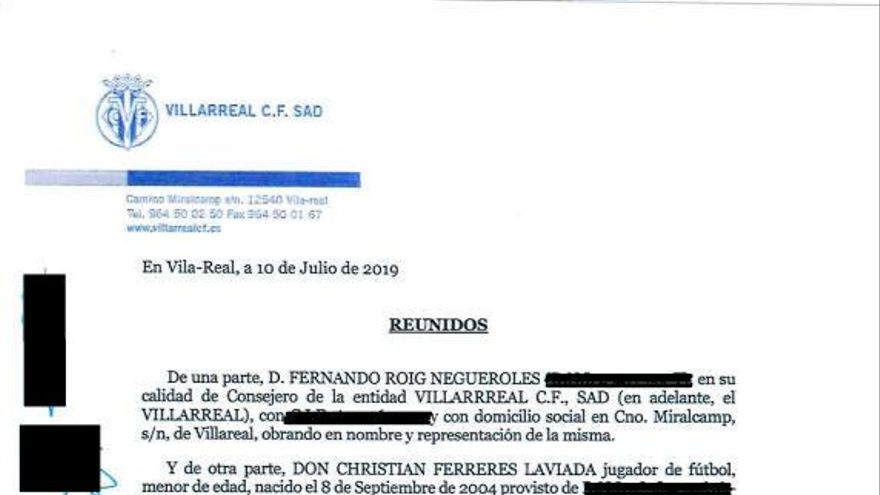 "El Villarreal ofreció a Ferreres un contrato en 2019 para jugar ""competiciones de carácter profesional"""
