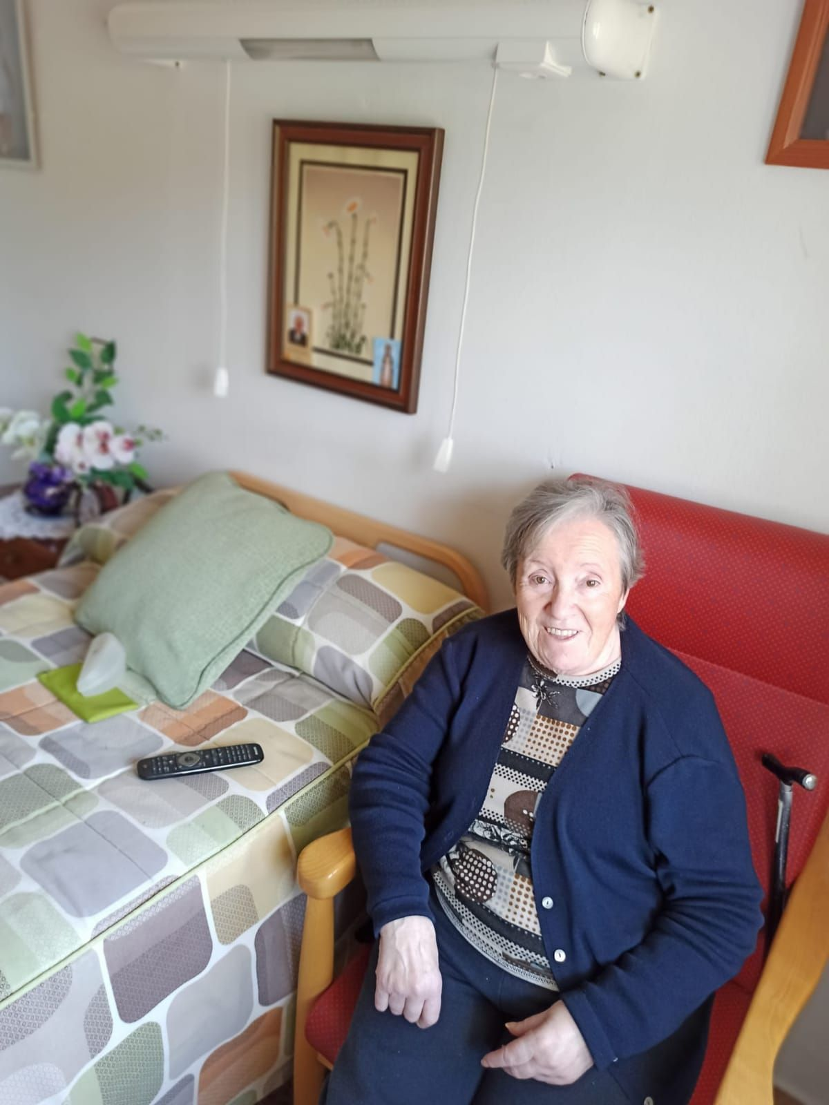 Raquel Fueyo, en la residencia Canuto Hevia.