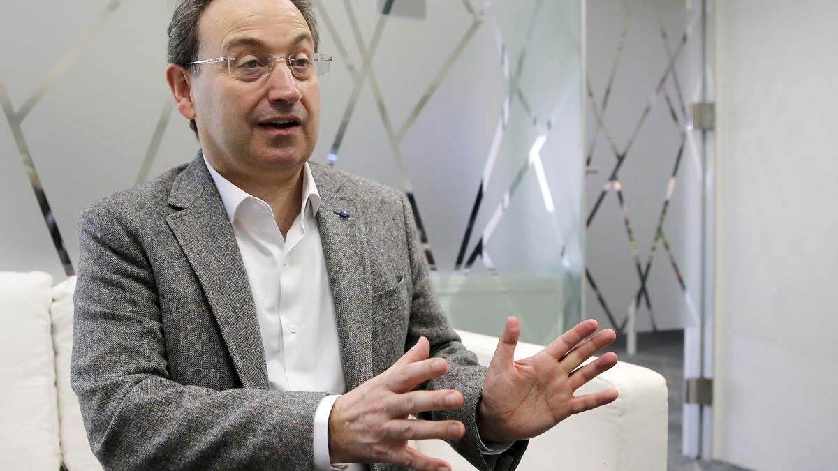 Jesús Cimarro durante la entrevista.