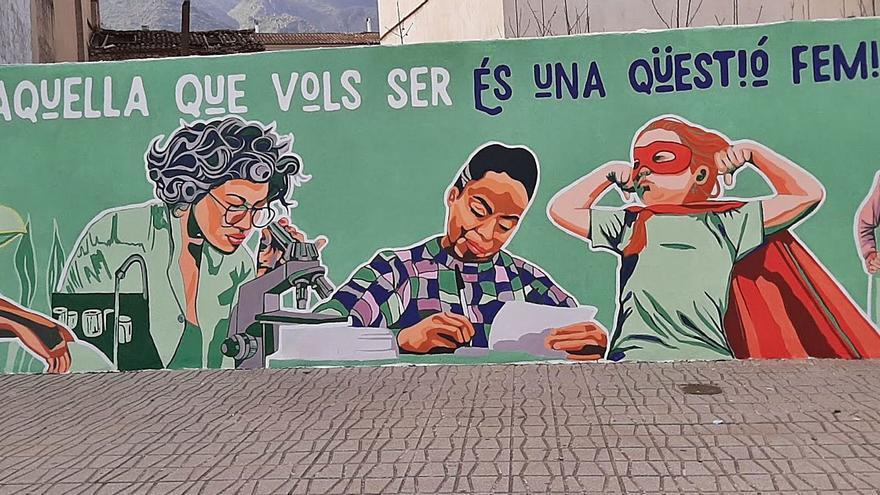 Villalonga  Mural de reivindicació feminista d'igualtat
