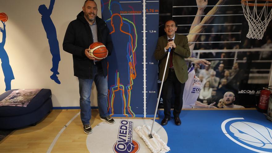 """El Oviedo Baloncesto, optimista: """"Si subimos, jugaremos en la ACB y será en Oviedo; lo que no sabemos es cómo"""""""