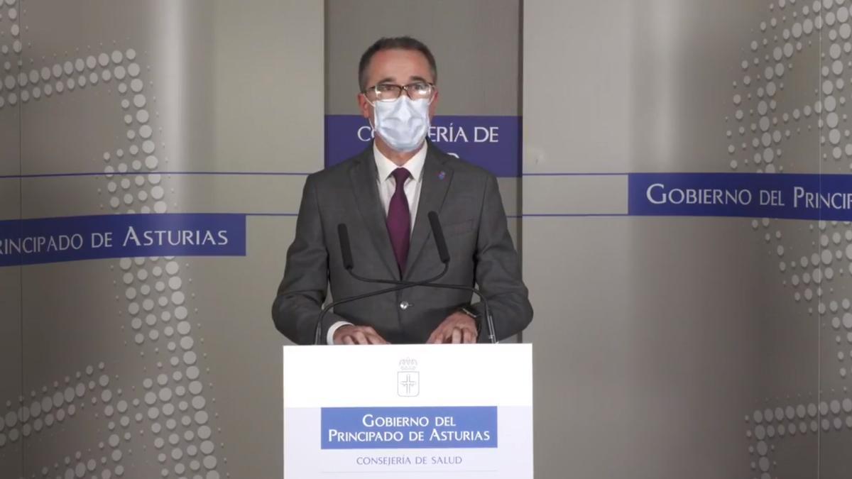 El consejero de Salud, Pablo Fernández Muñiz,