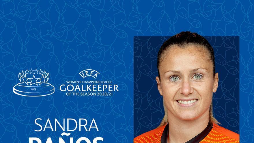 La alicantina Sandra Paños, nombrada mejor portera de la Champions