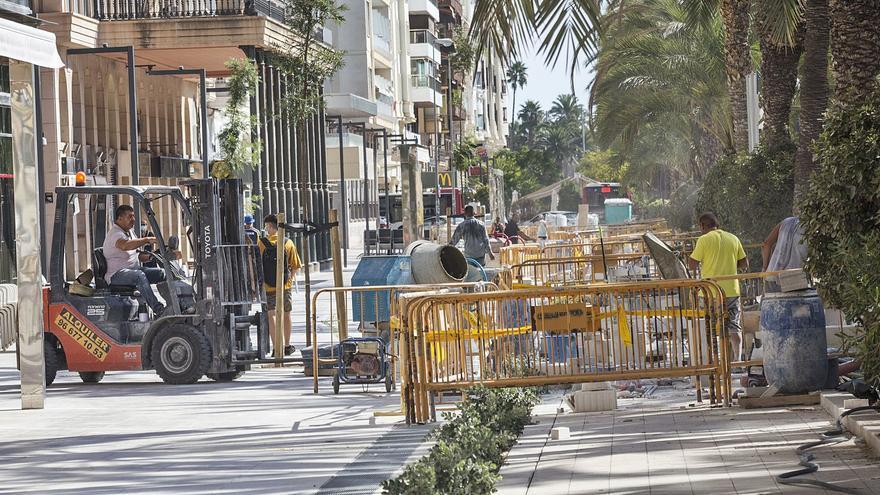 Urbanismo multará a la empresa que reforma la Explanada si no finaliza los trabajos a tiempo