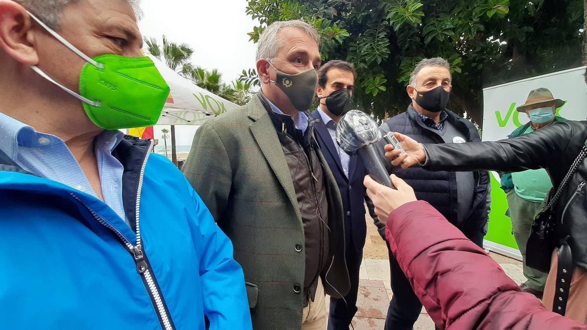 Rubén Manso atiende a los medios en Marbella.