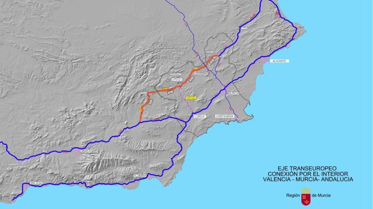 Murcia solicita una conexión por carretera entre Jumilla y Caravaca