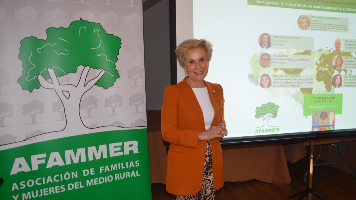 Carmen Quintanilla, presidenta nacional de Afammer