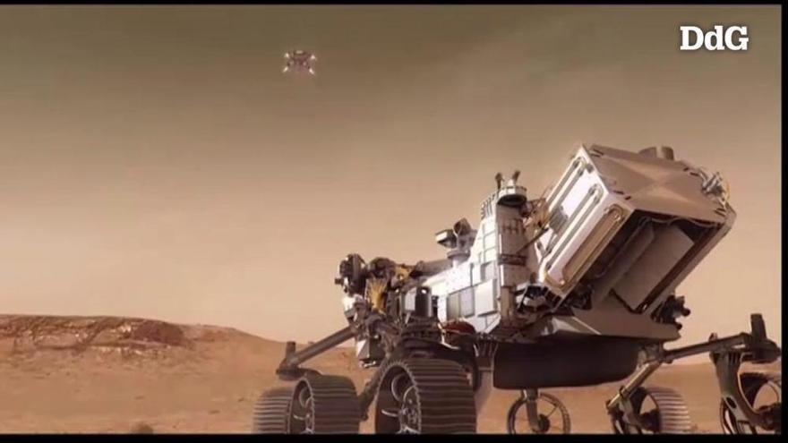 El vehicle «Perseverance» aterra amb èxit a Mart i envia les primeres fotos