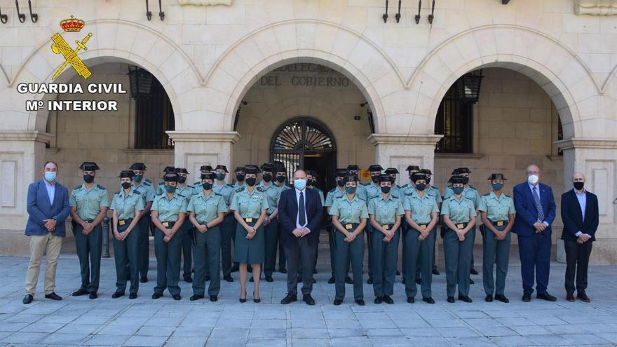 La Guardia Civil incorpora 28 agentes en prácticas en la provincia de Teruel