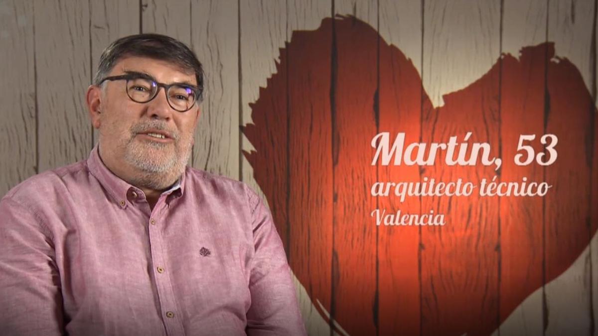 """El valenciano """"Martín, el melón"""" durante su intervención en 'First Dates'."""