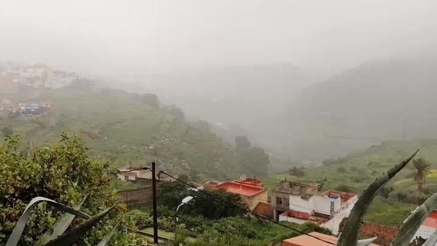 Mañana de sábado lluvioso en Arucas