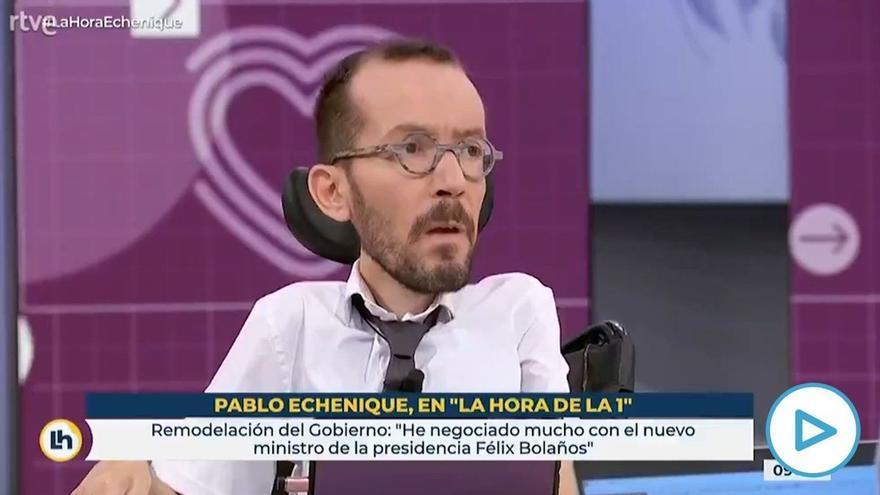 """Echenique critica en TVE el despido de Cintora: """"Espero que la dirección de la casa rectifique"""""""